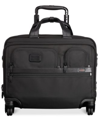Alpha Deluxe Spinner Brief with Laptop Case