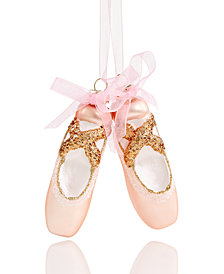 Holiday Lane Glass Pink Ballet Slippers Ornament, Created for Macy's