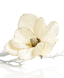 Holiday Lane Magnolia Flower Clip On Tree Ornament, Created for Macy's