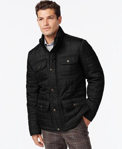 Tommy Hilfiger Four-Pocket Quilted Jacket - Coats & Jackets - Men ... : quilted jackets mens - Adamdwight.com