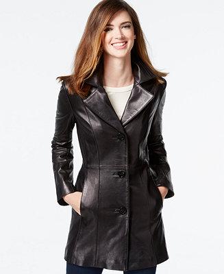 Anne Klein Leather Blazer Jacket Coats Women Macy S