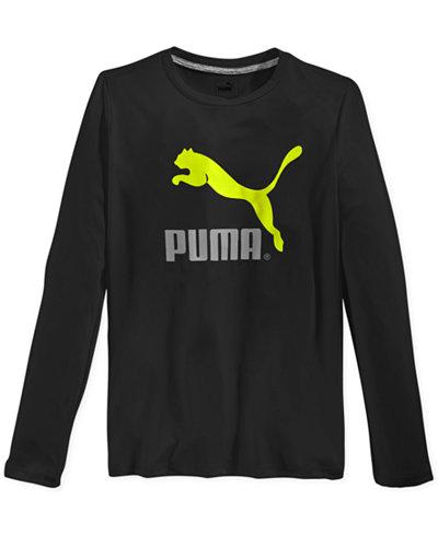 Puma Boys 39 Big Cat Long Sleeve T Shirt Shirts Tees