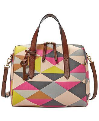Fossil Sydney Satchel - Handbags & Accessories - Macy's