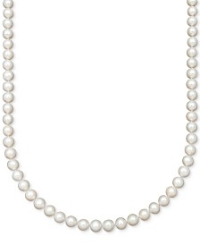"Belle de Mer AA 18"" Cultured Freshwater Pearl Strand Necklace (7-1/2-8-1/2mm)"
