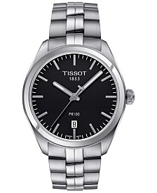 Tissot Men's Swiss PR100 Stainless Steel Bracelet Watch 39mm T1014101105100