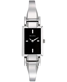 Women's Stainless Steel Bangle Bracelet Watch 18mm 96L138