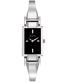 Women's Stainless Steel Bangle Bracelet Watch 18mm 96L138