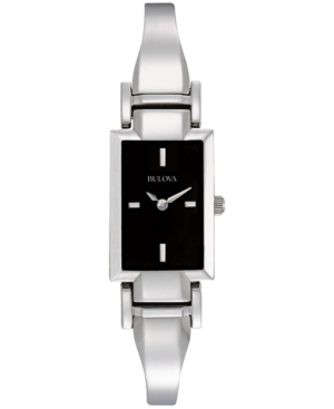 Bulova Womens Stainless Steel Bangle Bracelet Watch 18mm 96L138