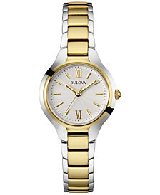 Bulova Women's Two-Tone Stainless Steel Bracelet Watch 28mm 98L217