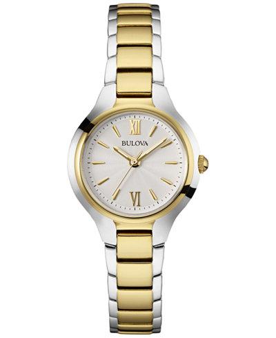 Bulova Women's Two-Tone Stainless Steel Bracelet Watch 28mm 98L217