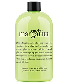 senorita margarita ultra rich 3-in-1 shampoo, shower gel and bubble bath, 16 oz
