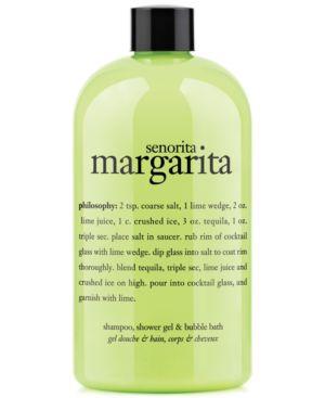 PHILOSOPHY Senorita Margarita Shampoo, Shower Gel & Bubble Bath 16 Oz/ 480 Ml