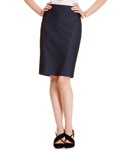 Anne Klein Denim Pencil Skirt