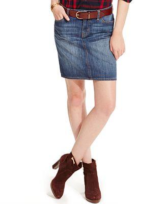 Tommy Hilfiger 5-Pocket Denim Skirt