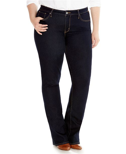Bootcut Sizes Macy's Shaping 315 Size Jeans Levi's Plus yqIUWq8