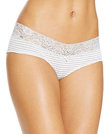 Cotton Wide Lace Hipster Underwear, Created for Macy's