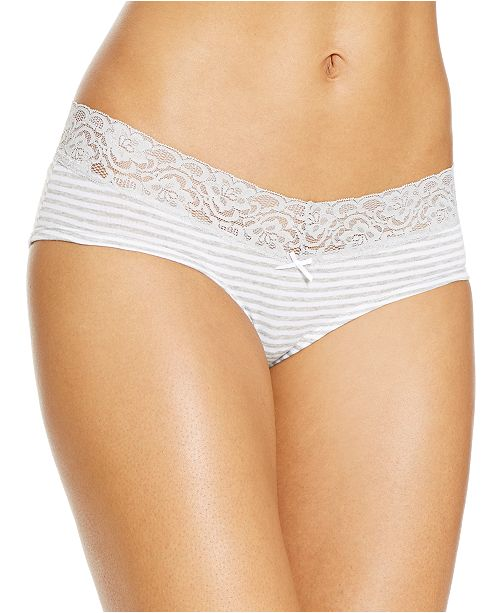 Jenni Cotton Wide Lace Hipster Underwear, Created for Macy's