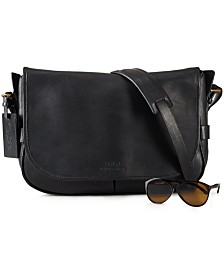 Polo Ralph Lauren Leather Messenger Bag