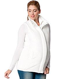 Motherhood Maternity Hooded Puffer Vest