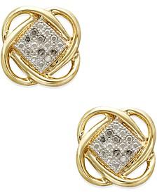 Diamond Accent Knot Earrings in 10k Gold