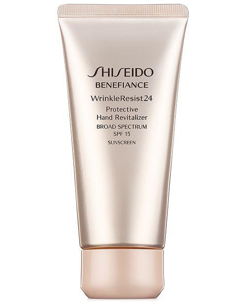 Shiseido Benefiance WrinkleResist24 Protective Hand Revitalizer SPF 15, 2.5 oz