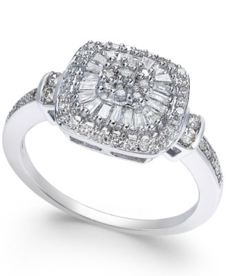 Diamond Vintage,Inspired Ring (1/2 ct. t.w.) in 14k White Gold, Yellow Gold  and Rose Gold