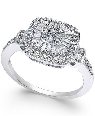 Diamond Vintage-Inspired Engagement Ring (1/2 ct. t.w.) in 14k
