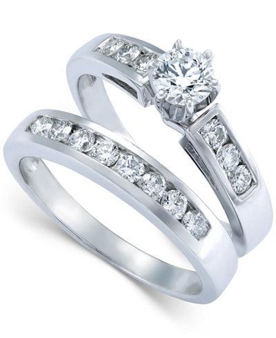 Diamond Engagement Ring Bridal Set in 14k White Gold (9/10 ct. t.w.)
