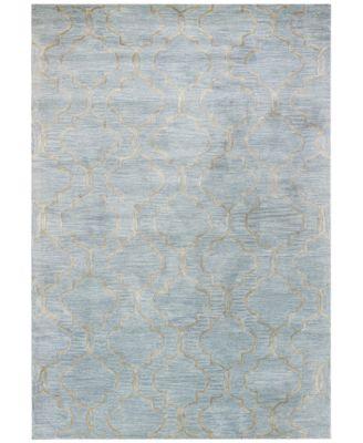 "macy's fine rug gallery bordeaux milazzo sky 7'9"" x 9'9"" area rug"