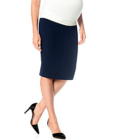 A Pea In The Pod Maternity French-Terry Pencil Skirt