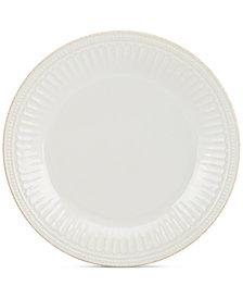Lenox Dinnerware Stoneware French Perle Groove White Dinner Plate
