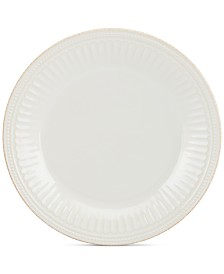 Lenox Dinnerware Stoneware French Perle Groove White Dinner Plate