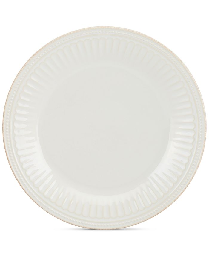 Lenox - Stoneware French Perle Groove White Dinner Plate, A Macy's Exclusive
