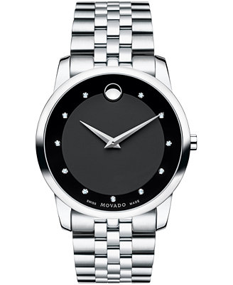 movado s swiss museum classic accent stainless