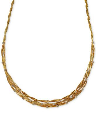 D'Oro by EFFY® Diamond Embellished Necklace (1-5/8 ct. t.w.) in 14k White or Yellow Gold