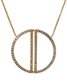 Geo by EFFY® Diamond Circle Pendant Necklace (1 ct. t.w.) in 14k Gold