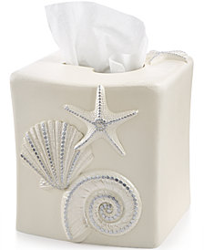 Avanti Bath, Sequin Shells Tissue Cover