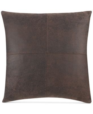 "Stretch Faux Leather 18"" x 18"" Throw Pillow"