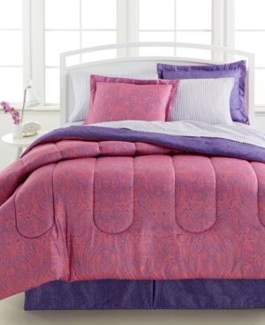Lydia 8-Pc. Reversible California King Comforter Set Bedding