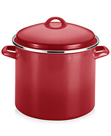 Rachael Ray Enamel on Steel 12-Qt. Covered Stockpot