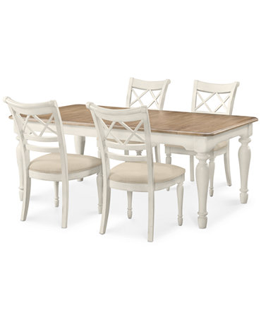 Montauk 5 piece dining set dining table and 4 chairs for Macys dining table