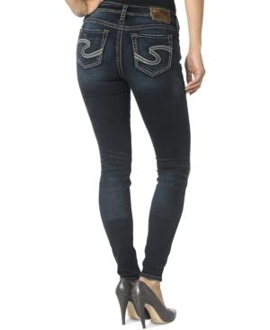 Silver Jeans Suki Mid-Rise Super Skinny Jeans  Indigo Wash