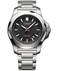 Victorinox Swiss Army Men's I.N.O.X. Stainless Steel Bracelet Watch 43mm 241723.1