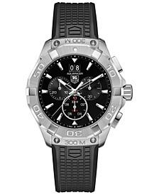 Men's Swiss Chronograph Aquaracer Black Rubber Strap Watch 43mm