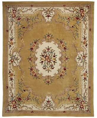 Closeout Km Home Majesty Aubusson Gold 3 X 5 Area Rug