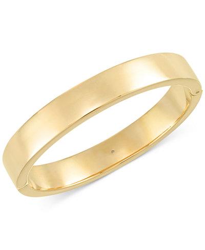 Signature Gold™ Polished Hinge Bangle Bracelet in 14k Gold over Resin