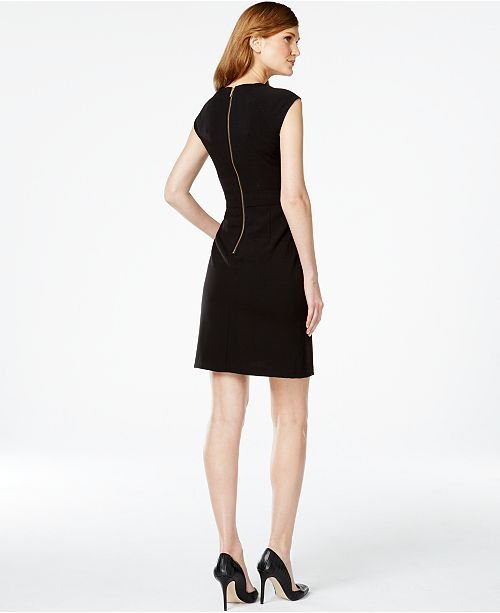 f8ffc5f66b7 Calvin Klein Buckled Sheath Dress   Reviews - Dresses - Women - Macy s