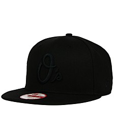 Baltimore Orioles Black on Black 9FIFTY Snapback Cap