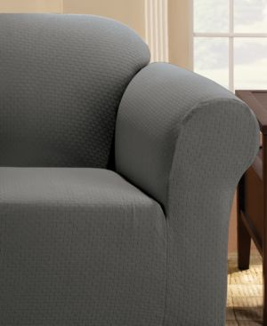 Sure Fit Simple Stretch Subway Tile Chair Furniture Slipcover