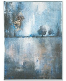 Framed Canvas Lake at Dusk Wall Art